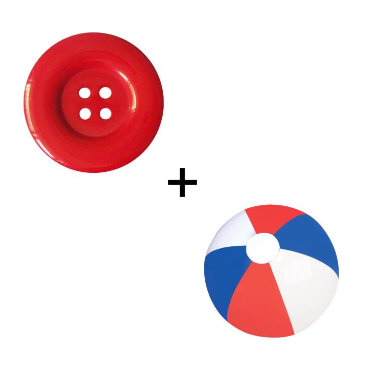 Button-Beach Ball